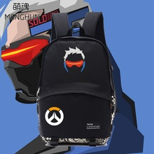 New school backpack for students game fans gift nylon OW backpack hot character Soldier 76 bag for player nb057
