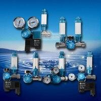 Aquarium CO2 Regulator Bubble Counter Magnetic Solenoid with Check Valve Water Plant Tank CO2 Pressure Flow Control Gauge