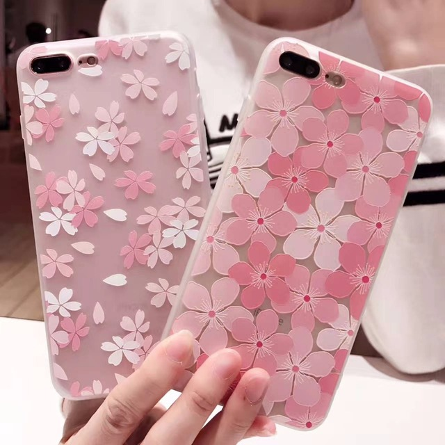 info for 3a7f1 32696 US $2.72 |i7 For Coque iPhone 7 Case Pink Cherry Blossoms Phone Cases for  iPhone 7 6s 6 Plus Cover Soft 3D Embossed Fashion Back Cover-in Fitted  Cases ...