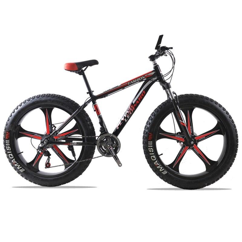Высококачественные алюминиевые велосипеды 26 дюймов 7 скоростей 21 скорость фэтбайк 26x4.0 Двойные дисковые тормоза Горный велосипед Жирный ве...