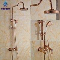 2016 New Bathroom Shower Set Rose Gold Shower Panel for Shower Room