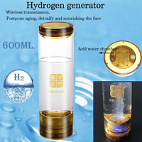 Wireless transmission Hydrogen Rich Generator H2 water Electrolysis Separation Hydrogen and Oxygen Postpone aging glass cup