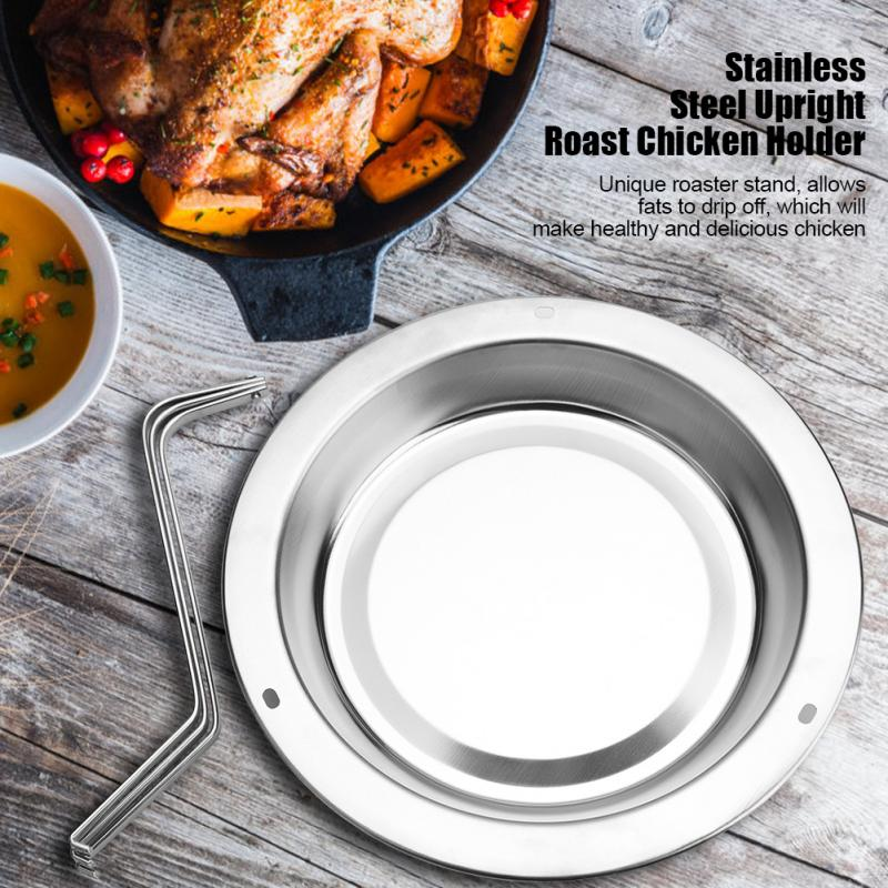 Roast Chicken Holder For Stainless Steel Upright Roaster Rack Barbecue Stand Roasting BBQ Tool/Wild Donkey Supplies