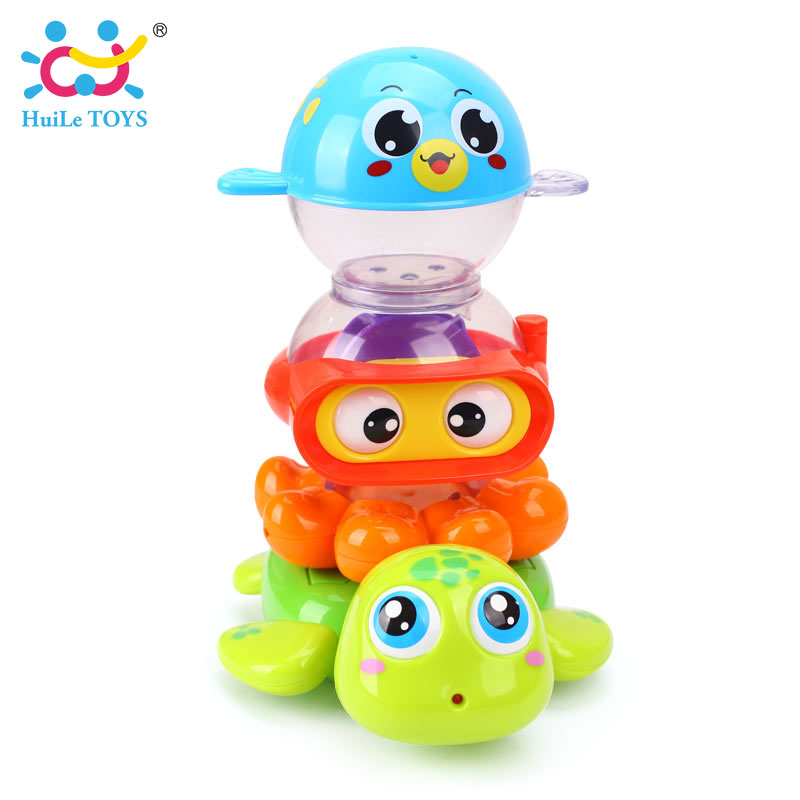 HUILE-TOYS-3112-Baby-Bath-Toy-Pool-Swimming-Toys-Animals-Stacking-Game-Children-Kids-Bathing-Tub-Water-Spraying-Tool-Toy-Gifts-1