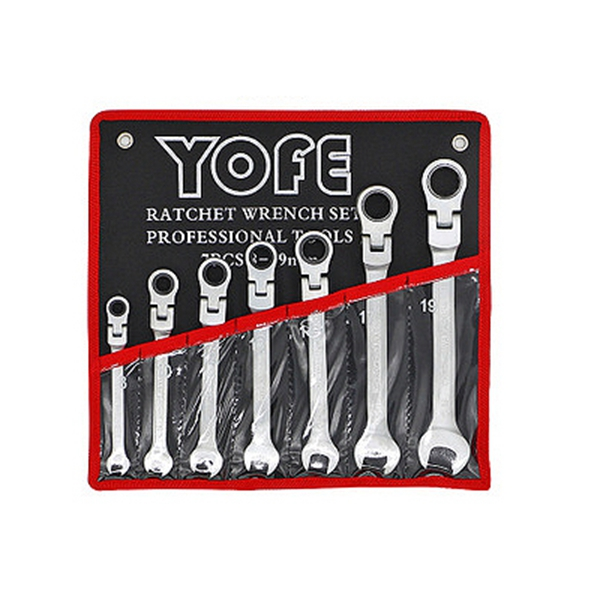 YOFE 7Pcs The Key With Combination Flexible Ratchet Wrench Auto Repair Hand Tools SpannersYOFE 7Pcs The Key With Combination Flexible Ratchet Wrench Auto Repair Hand Tools Spanners