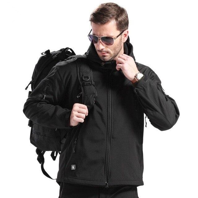 เกียร์ยุทธวิธีกรูพรางแจ็คเก็ตกลางแจ้งผู้ชายกองทัพกันน้ำอุ่นCamo Hunterเสื้อผ้าเสื้อกันลมเสื้อแจ็คเก็ตทหาร-ใน แจ็กเก็ต จาก เสื้อผ้าผู้ชาย บน   2