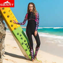 Summer NEW Women's Rash Guard UV Sun Protection Long-Sleeve Digital Print Lycra Quick Dry Surfing Wetsuit Swimming One-piece(China)