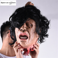 Terrorist devil Scary Black Long Hair Blooding Ghost Mask Cosplay Halloween Costumes Party Prop halloween decoration