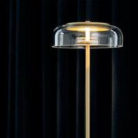 Creative simple floor lamps glass ball standing lamp chrome gold for living room bedroom new design art home decoration lighting
