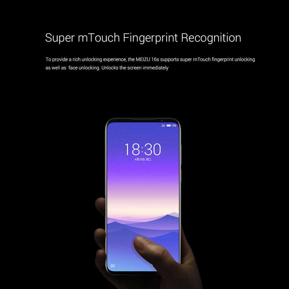 Micrologiciel mondial 6.2 pouces Meizu 16s téléphone portable Snapdragon 855 6GB 8GB RAM 128GB ROM 3600mAh 48MP 20MP empreinte digitale Smartphone