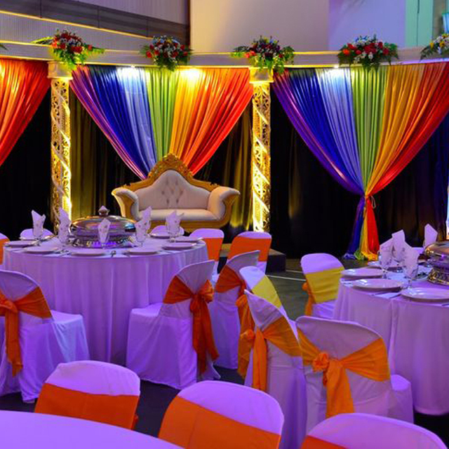 Multi Color Backdrop Colorful Rainbow Wedding Event Party Banquet Stage Background Decoration