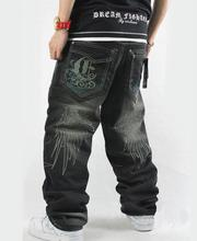 2015 frühling Männer Lose Jeans Hip Hop Stickerei skateboarder baggy pants hose Plus Größe Denim Cowboy hose Bottoms