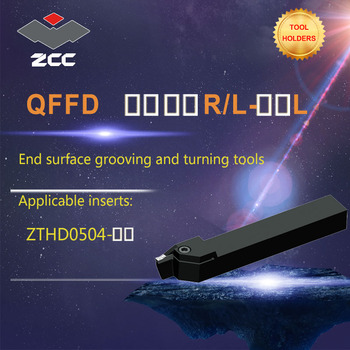 ZCC CNC lathe tool holder QFFD -R/L type tungsten carbide cutting tool plate tools holder end surface grooving and turning tools zcc cnc lathe tool holder jclnr l tungsten carbide cutting tool plate tools holder for cnc lathe cutter cutting turning tool