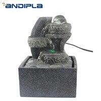 110V 240V Vintage Resin Feng Shui Water Fountain Lucky Crystal Ball Feng Shui Home Decor Air Humidifier Feng Shui Wheel Ornament