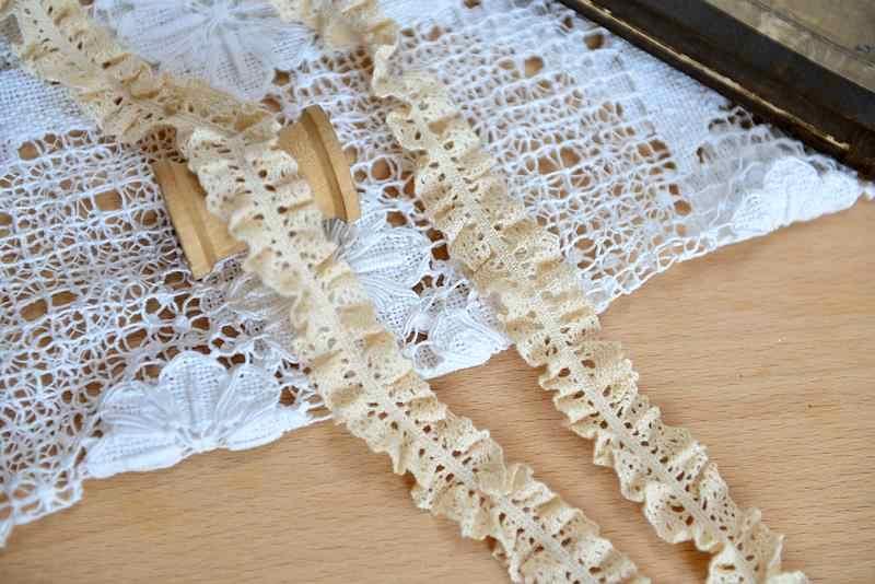 M0501 DIY handmade akcesoria koronkowe tkaniny bawełniane koronki bawełniane koronki koronki fala 0.5 cm gorąca sprzedaż