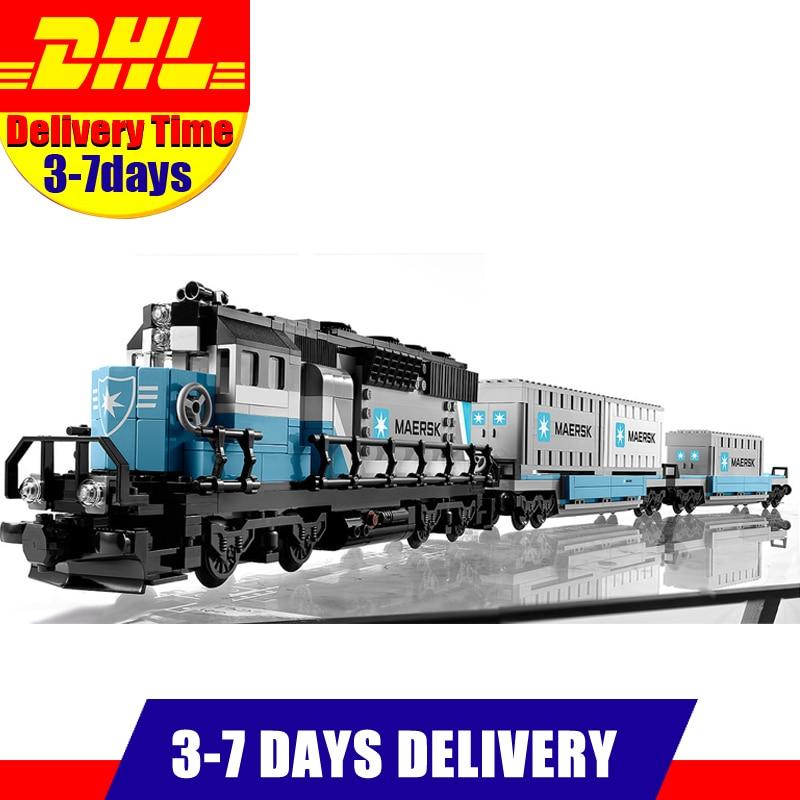 IN Stock 2018 DHL LEPIN 21006 1234 PCS enuine Technic Ultimate Series The Maersk Train Set Building Blocks Bricks Toys 10219