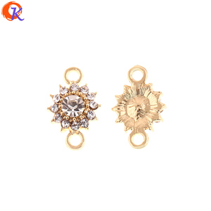 Image 1 - Cordial Design 100Pcs 10*15MM Jewelry Accessories/DIY Jewelry Making/Rhinestone Earring Connectors/Hand Made/Earring Findings
