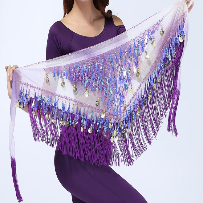 Sequin Belly Hip Scarves Adult Fringe Dance Belt Scarf Oriental Costumes for Sale Women Bellydance Eastern Mermaid Dancing Wear