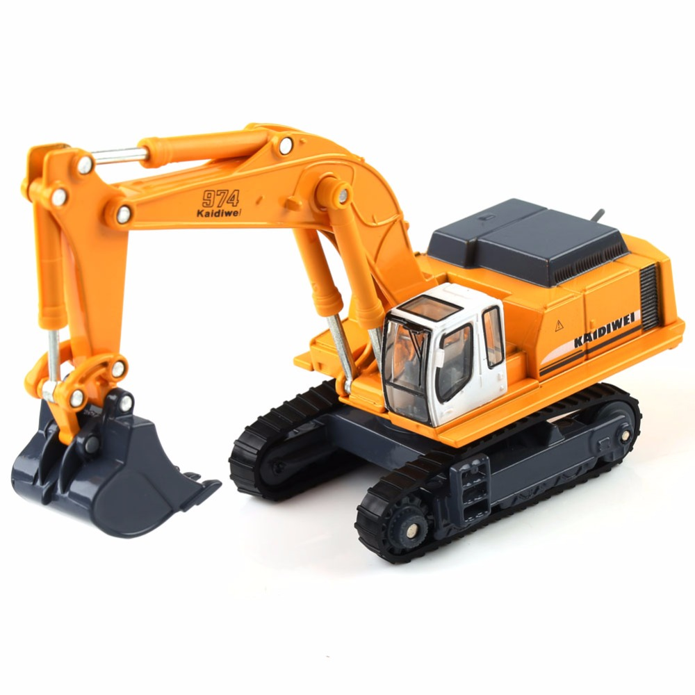 1:87 KAIDIWEI Diecast Excavator Construction Equipment Model Kids Toys Gift 1/87 HO Scale