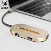 Baseus TYPE-C Interface do HUB Expander Para O TIPO C 3.1 a 3 * USB 3.0*1 + HDMI + 1 * USB C Multi-função OTG Conversor Adaptador