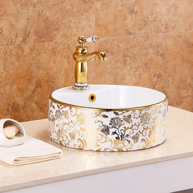 Bon Washing Wash Basin Countertop Oval Sinks Bathroom Sink Ceramic Glaze  Spraying Christmas Decorations For Home Smart
