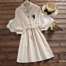 Женское льняное платье с коротким рукавом duoupa повседневное