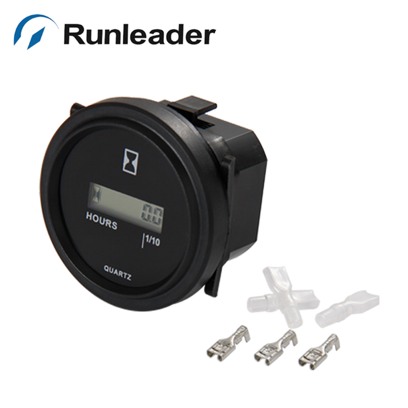 (5pc) Runleader Round Digital Lcd Dc 4.5-90v Hour Meter For Marine Atv Motorcycle Chain Saw Lawn Mower Snowmobile Jet Ski Keep You Fit All The Time