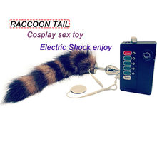 3c714a697 Erotic Cosplay Adult Metal Butt Plug Stainless Steel Electric Shock Anal  Fox Tail Couple Raccoon Tail Sex Toys