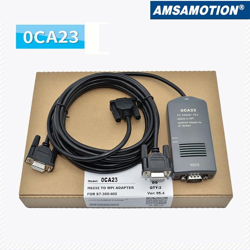 Compatible Siemens S7-300/400 PLC programming cable 6ES7972-0CA23-0XA0 PC-MPI+ practical usb cable cable ppi mpi of programming cd for siemens s7 200 300 400 plc