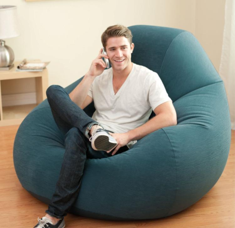 Intex véritable original haute niveau unique personne gonflable paresseux canapé avec inclinables retour