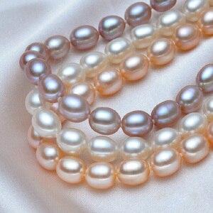 Image 4 - אמיתי מים מתוקים פרל שרשרת תכשיטים, אמיתי טבעי חתונת פרל שרשראות לנשים אמא יום הולדת יום נישואים מתנה הטובה ביותר