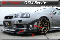 FRP Fiber Glass / Carbon Front Bumper Canard Fit For 1999 2002 Skyline R34 GTR Front Bumper GD Style Stingray Canards