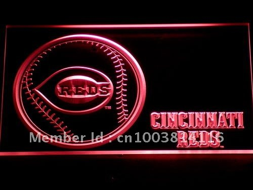 282 Cincinnati Reds Baseball Bar LED Neon Sign with On/Off Switch 20+ Colors 5 Sizes to choose