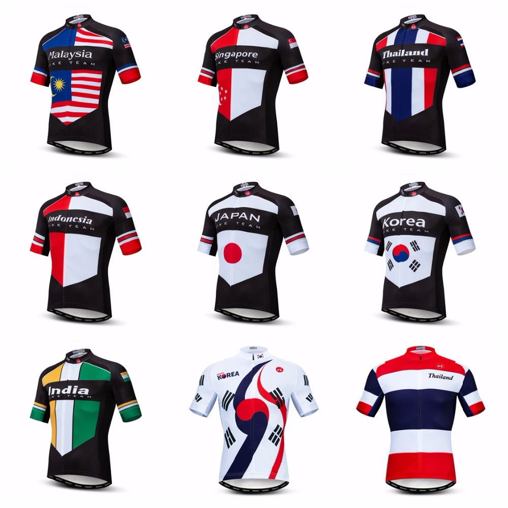 Bike Jersey Mtb-Shirts Mountain-Road-Tops Team-Maillot Indonesia Malaysia Japan Ciclismo