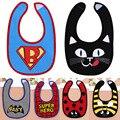 Barato Bebé Productos Para Bebés de Alta Calidad Superman Batman Spiderman I amor Mamá Papá Infantil Para Bebés de Algodón Baberos Burp paños