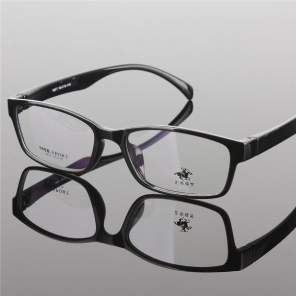 Fashion rectangle myopia eyeglasses men women Spectacles memory material high quality vintage frames letter print