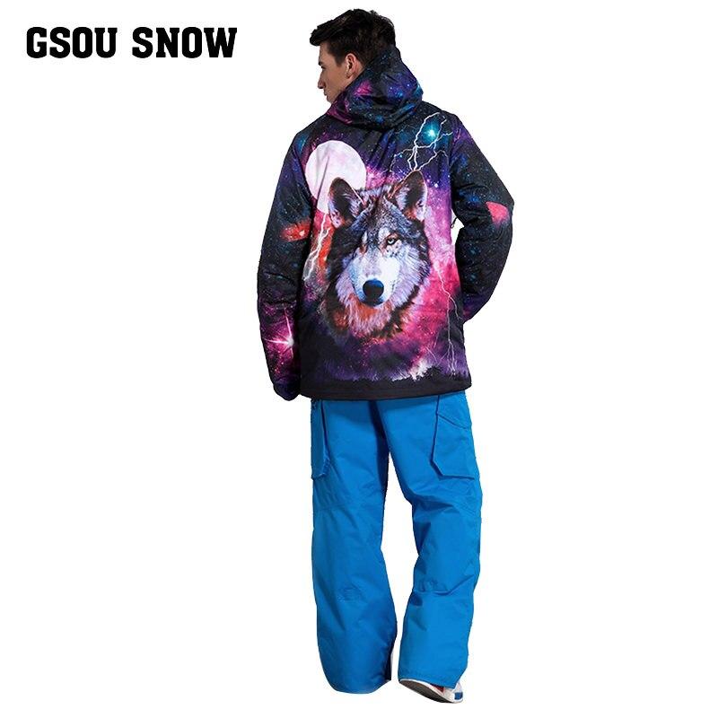 Gsou snow Plus Size Men Skiing Ski wear Waterproof Hiking Outdoor jacket  Snowboard jacket Ski suit men Large Size Snow jackets-in Skiing Jackets  from Sports ... 508248106eaf