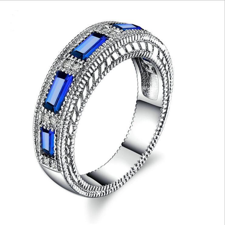 Fashion Women s Rings Blue Jewelry Filled Wedding Engagement Rings Beautiful Jewelry Beautiful Trinkets