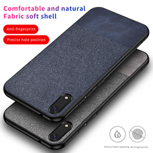 iKrsses Case For Huawei Honor 8A PU and Simple Cloth Hard Backshell Soft Border Case For Honor 8A Anti-fall All-inclusive Cover