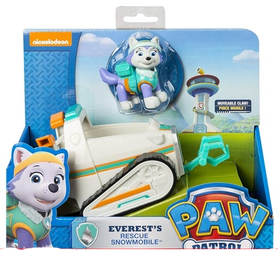 Genuine Paw Patrol Dog Toy Car Everest Tracker Patrulla Canina Rescue Sets Action Anime Figures Canine PVC Toy Of Children Gift