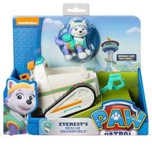 Juegos de rescate de Paw Patrol Dog Toy Car Everest Tracker Patrulla Canina figuras de Anime de acción Canine PVC juguete de niños regalo