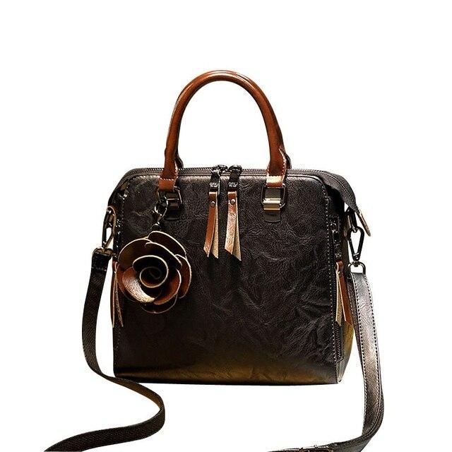 2e4a807b810c new 2018 Genuine Leather Fashion women bag handbag luxury designer women  messenger bags brands Crossbody Bags