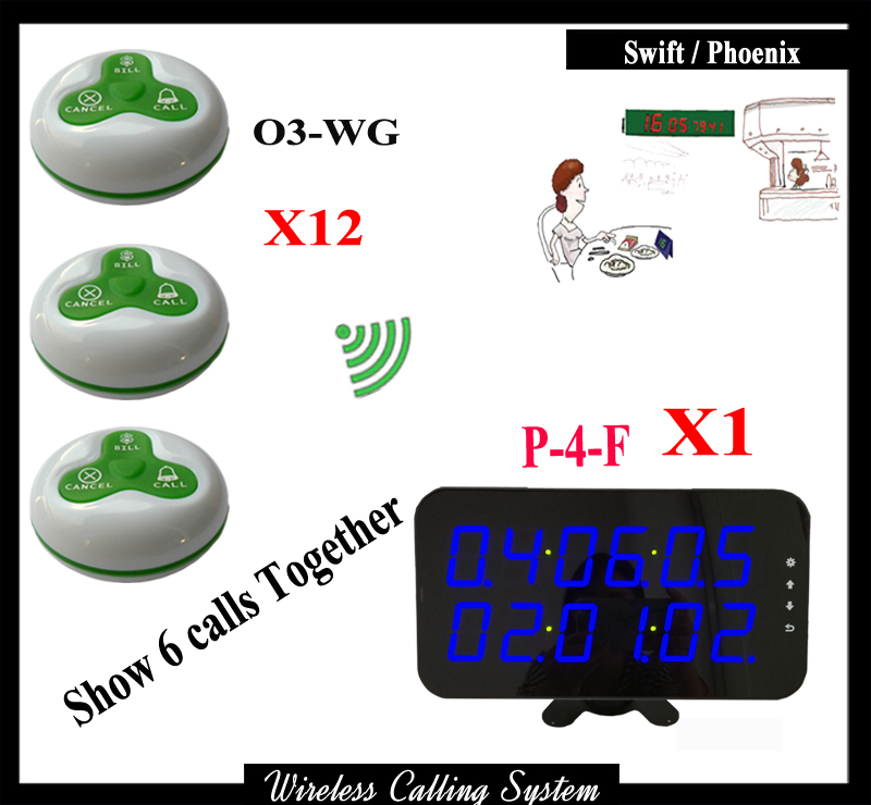 Wireless Waiter calling system for restaurant with wireless pager receiver and wireless service call bell Button 1 watch receiver 8 call button 433mhz wireless calling paging system guest service pager restaurant equipments f3258