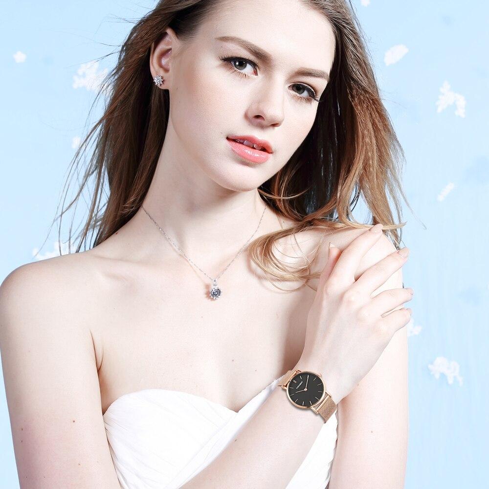 Horloge Dames Rose Goud Luxe Merk Cagarny Women's Wastches Mode - Dameshorloges - Foto 6