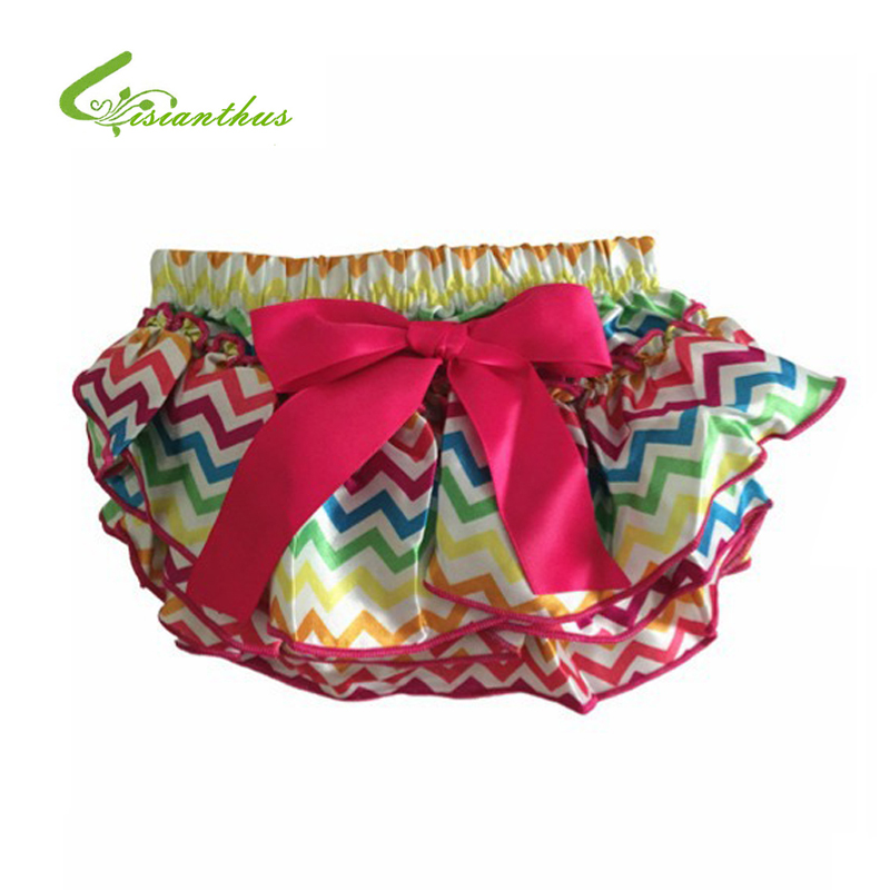 Baby Bloomers Girl Summer Ruffle   Shorts   Layers Infant Diaper Cover Newborn Clothing Toddler Cute Satin Pant with Skirt Free Ship