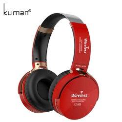 Kuman deportes Auriculares auriculares estéreo inalámbricos HIFI auricular Bluetooth con 3,5mm línea de conversión para teléfono PC Gaming YL-HH3