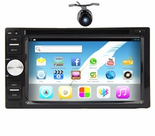 2 din Android 4.4 Car DVD player GPS+Wifi+Bluetooth+Radio+Quad Core+Capacitive Touch Screen+car pc+aduio+Steering wheel control