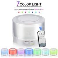 500ML Aroma Diffuser Ultrasonic Air Humidifier Aromatherapy Essential Oil Diffuser With Remote Control LED Lights For