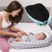 Cotton Baby Bed Portable Infant Nest Baby Crib Cradle Washable Babynest Soft Children's Bed Cradle Outdoor Toddler Travel Beds