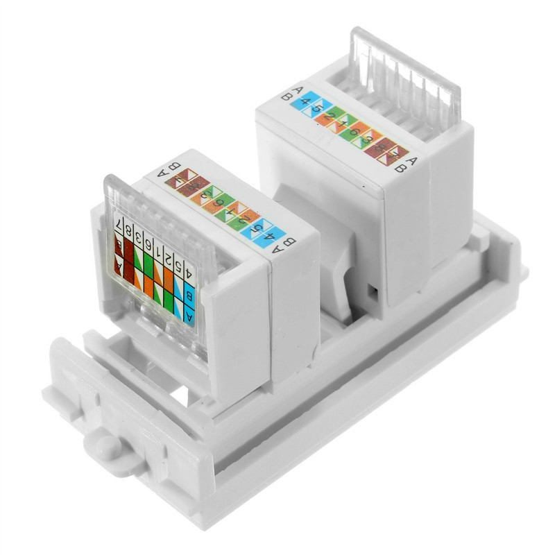 2018 Building Materials Wall Plate Dual Port Socket Panel Duplex Network Combination Module For RJ45 Excellent Material